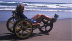 Riding a FUNcycle in Canon Beach, Oregon