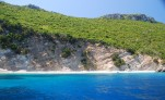 Desolate beach on one of the Ionian Islands in Greece
